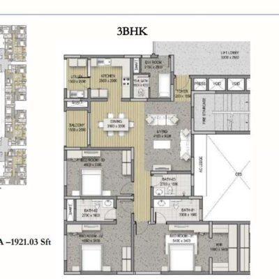 sobha-hrc-pristine-3-bedroom-floor-plan